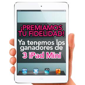 Ganadores del sorteo de 3 iPad Mini